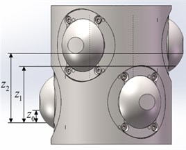 Relative axial displacement between the plugs of different layers