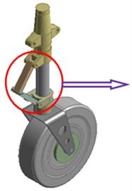 Geometric model of landing gear