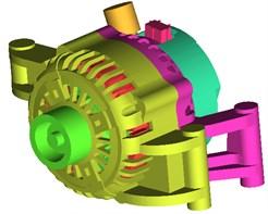 Geometric model of vehicle alternators