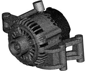 Computational grids of vehicle alternators