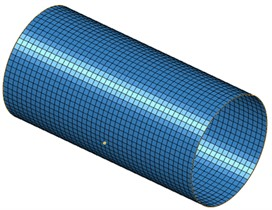 Acoustic boundary element model of cylinder