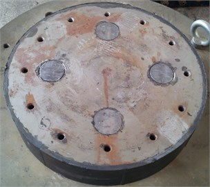 Lead rubber bearing in the test