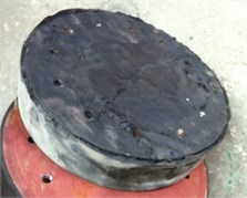 Shear failure of the bearings after E≥ 350 %