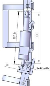 Knee joint exoskeleton mechanical model and sizes (Unit: mm)