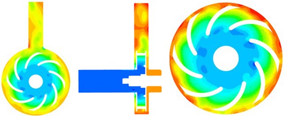 Unsteady computational results for the flow field of the centrifugal pump