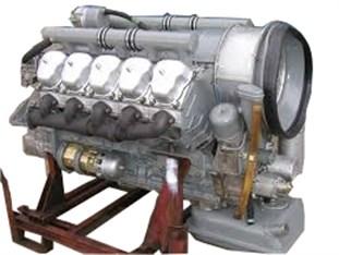 Investigated V10 diesel engine a) and its crankshaft b)