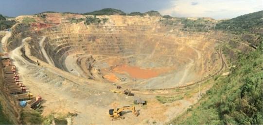 Washan open-pit mine in Jiangsu province, China
