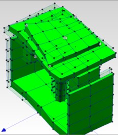 Two sample torsion mode shapes of table in Me'scope software