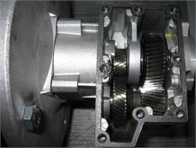 The view of the transmission under consideration and its kinematic scheme