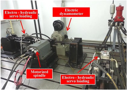 Motorized spindle reliability bench test