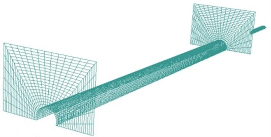 Computational model for the high-speed train passing through the tunnel
