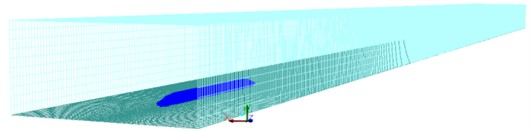 Computational model of the high speed train in the open air