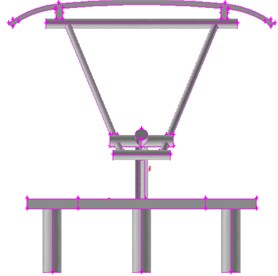 Geometric model for the pantograph of the high-speed train
