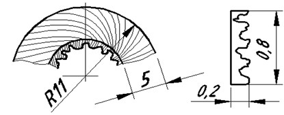 The oscillation source a) shavings and harmonic oscillations, b) the longitudinal displacement speed ϑ and the rotation frequency Ω of the process object: h – axial movement; φ=ω∆t
