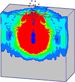 Damage processes of the normal strength concrete target  with considering the initial penetration damage