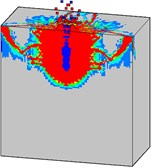 Damage processes of the high strength concrete target to internal explosion  with considering the initial penetration damage