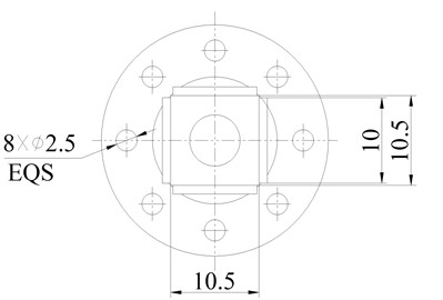 Dimensions of the proposed motor (unit: mm)