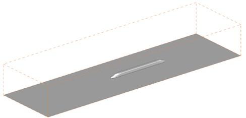 Computational domain for aerodynamic noises