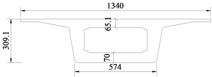 Schematic diagram of high-speed railway bridge