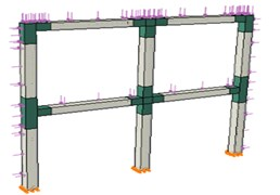 Typical view of the frame
