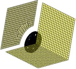 Boundary element model of the optimized wheel
