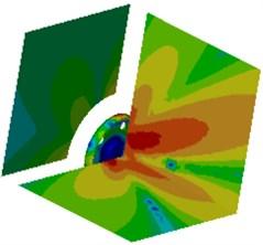 Contours of radiation noises of the optimized wheel