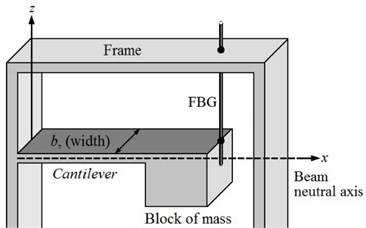 Schematic structure of the FBG sensor