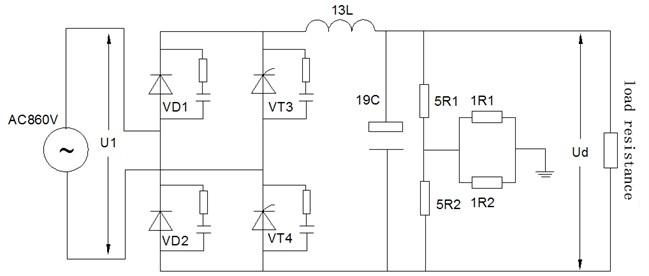 The main circuit diagram of HXD3C type electric locomotive