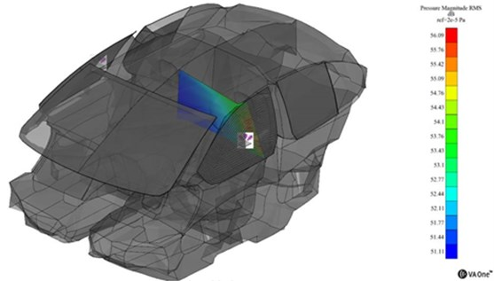 Cavity direct field representation at 630 Hz