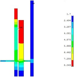 Dust concentration distribution simulation of 5# and 7# hole when working for 1 hour