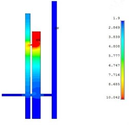 Dust concentration distribution simulation of 7# hole when working for 1 hour