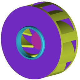 Geometric model of volutes and impellers of centrifugal pumps