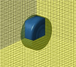 Panel field point meshes of permanent magnet synchronous motors