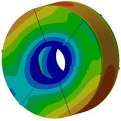 Key participant modal shapes of permanent magnet synchronous motors