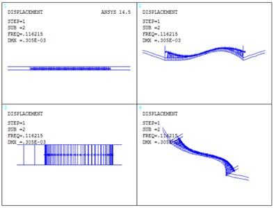 Vibration mode of Cuntan Yangtze bridge