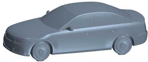 Geometric model of the processed vehicle