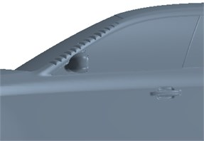 Local model of the bionic structure in vehicles