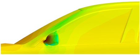 Velocity and pressure distributions in lateral window regions