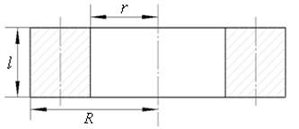 Parameter diagram of hollow cylinder