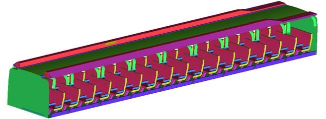 Computational geometric model of compartment seats