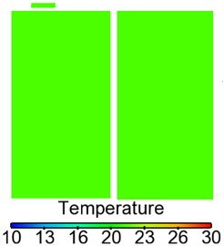 Contours of temperature distribution in the sleeper compartment