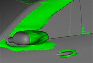Air flow separation regions of side window regions