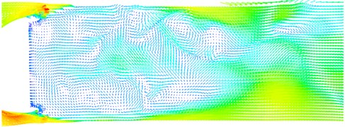 Comparisons of velocities between numerical simulation and experimental test