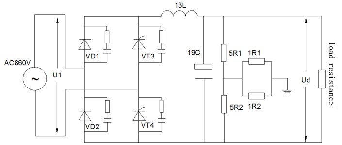 The main circuit of the device