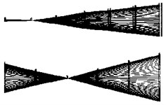 First 3 orders modal shapes of rotor tester in horizontal direction