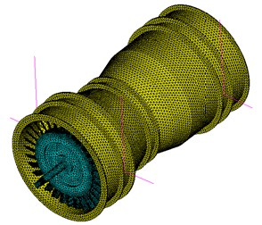 Finite element model of whole rotor tester