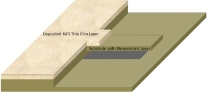Silicon nitride cantilever nanoresonator with NiTi thin film