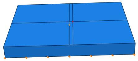 Geometric model of concrete slab for IE simulation