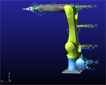 6-DOF handling robot simulation model