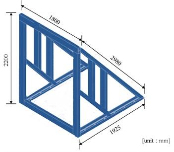 Details of the steel frame